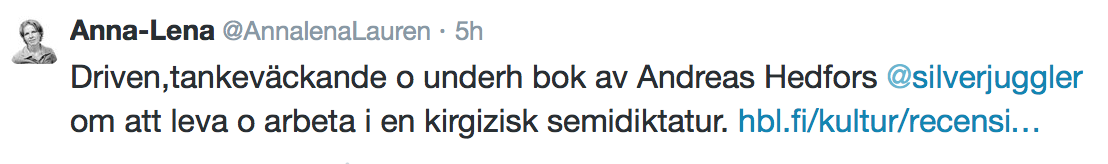 Twitter, 15 januari 2015.