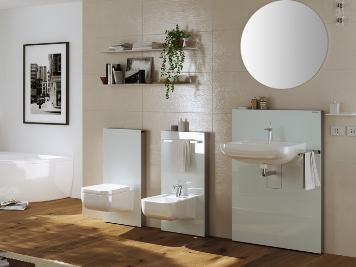 ristrutturazione bagno sanitari geberit monolith. Black Bedroom Furniture Sets. Home Design Ideas