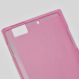 Pudding TPU Jelly Case Cover Protector for Lenovo K900 - Pink