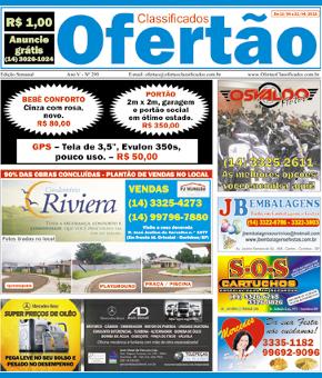 OFERTÃO: O MELHOR JORNAL DE CLASSIFICADOS DE OURINHOS E REGIÃO. APENAS R$ 1,00.