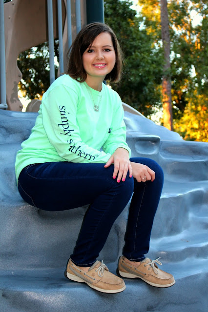 go preppy or go home long sleeve simply southern shirt