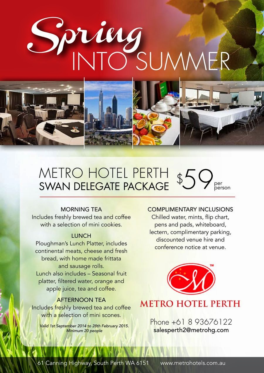 Swan Delegate Package at Metro Hotel Perth