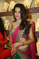 Deeksha Panth Hot Pic in Pink Half-Saree