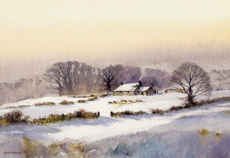Winter Trees In Watercolor Bellamy S Bivouac