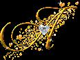 Alfabeto Dourado em Png