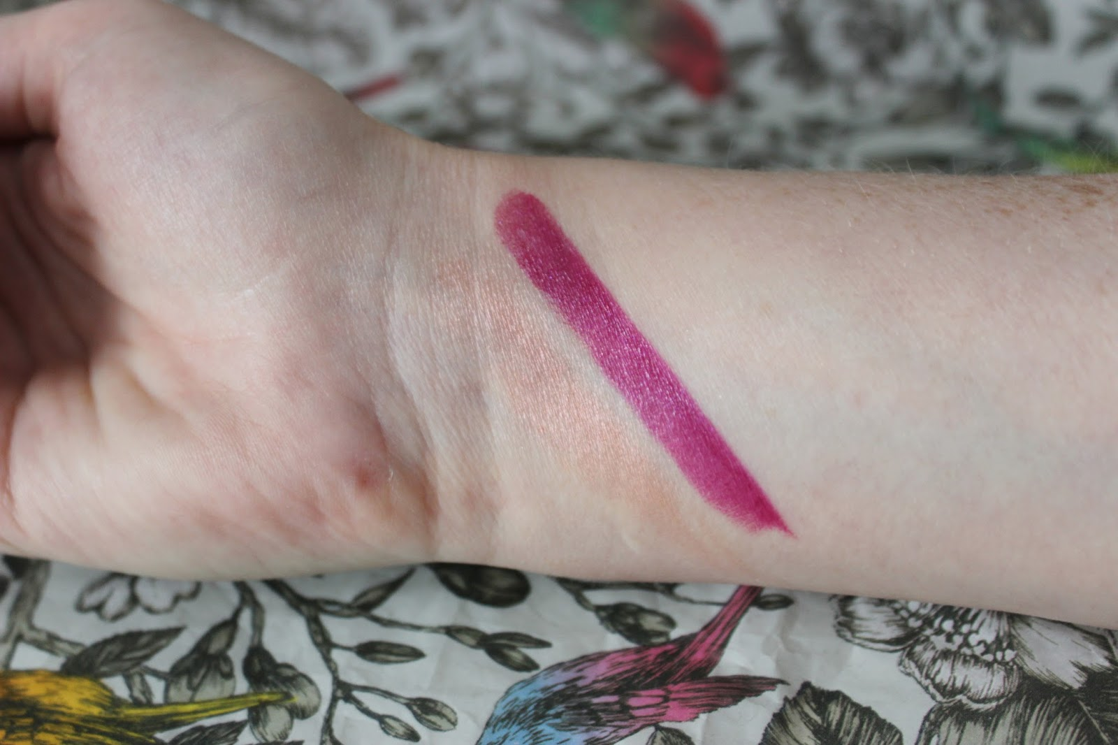Topshop metallic makeup - Drive lipstick and pulse blusher swatches