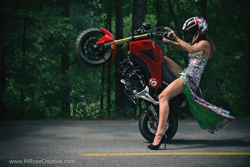 Image result for girl honda grom