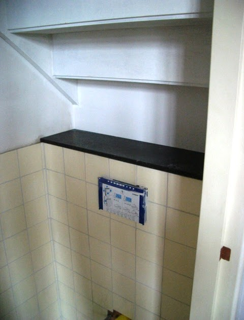 Vlierdenseweg 190 toilet onder de trap betegeld for Toilet betegeld