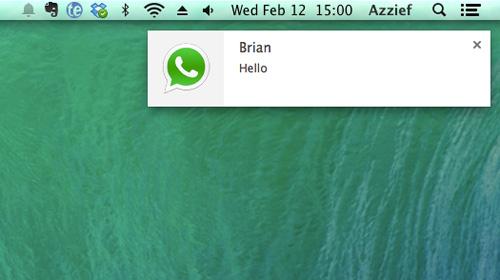 whatsapp notification on pc