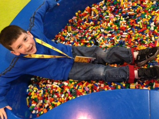 Laying in the Lego Pit