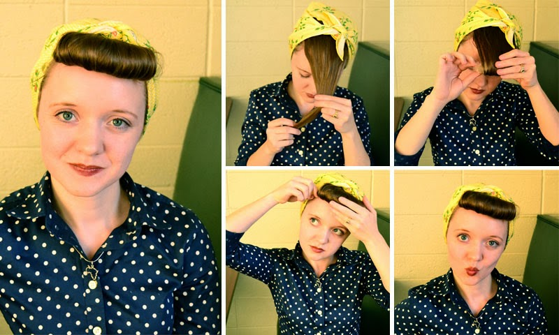 Working Woman Series 1940s Scarf Hair Tutorials Flashback Summer