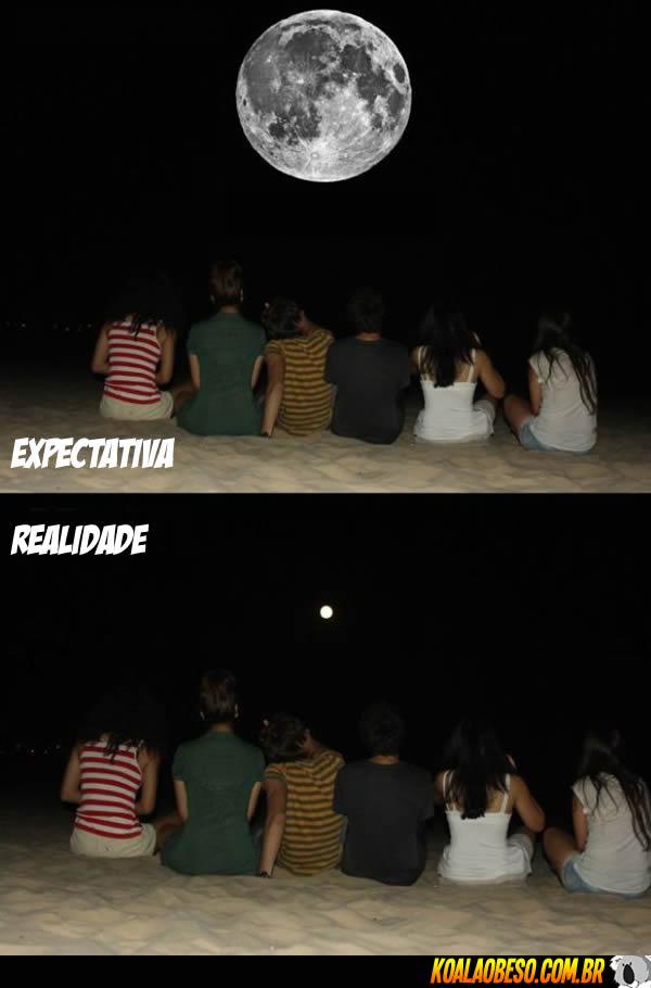 A expectativa e a realidade de observar a Lua