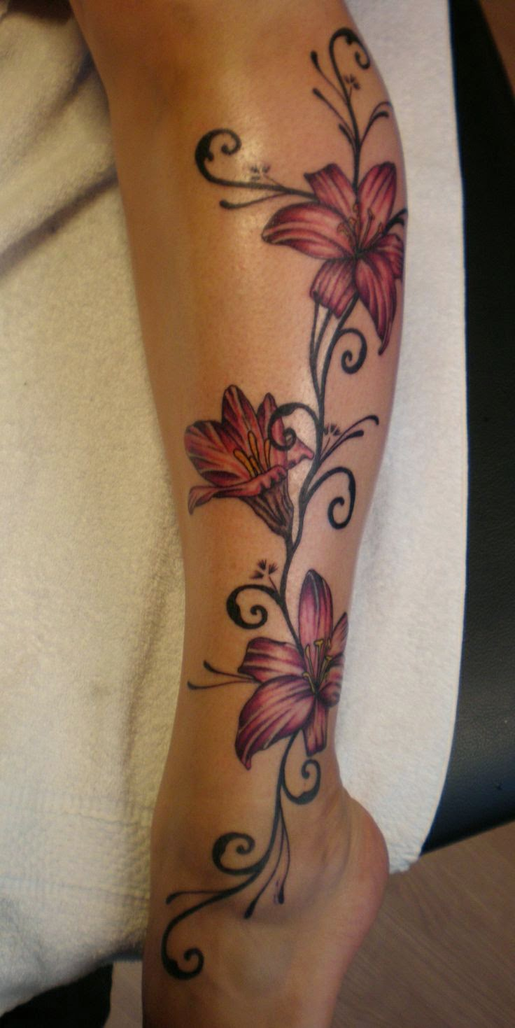 absolutely feminine & stunning leg tattoo, I don't like leg tattoos, on an arm or rib cage would be awesome!!