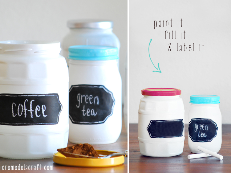 Diy chalkboard label jars for Kitchen jar ideas