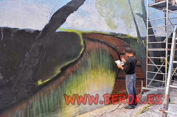 Marcando el mural