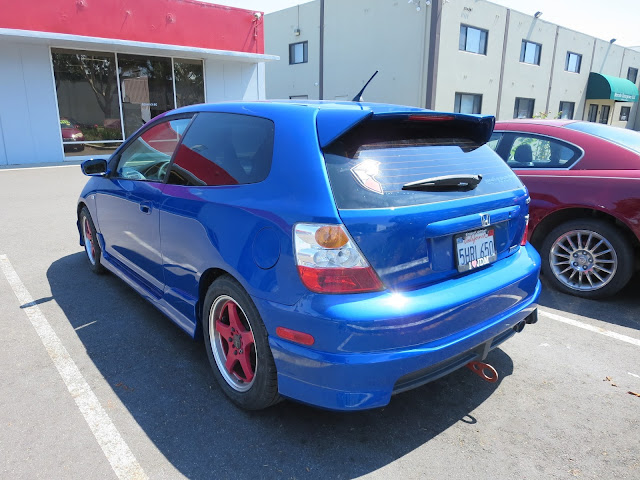 Civic repainted at Almost Everything Auto Body