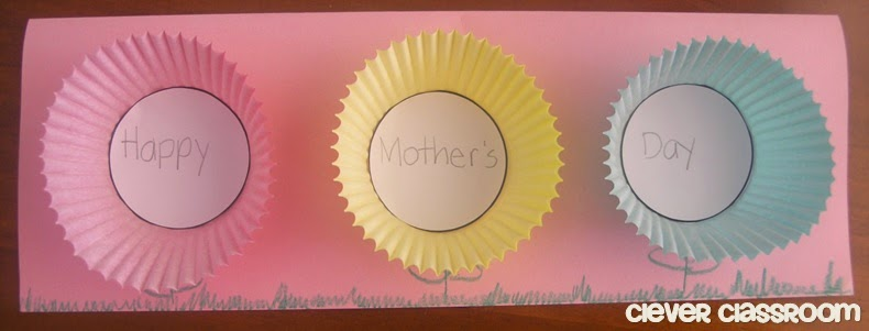 Mother's Day Card Craft Idea: Blossoming Words Clever Classroom