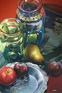 Pintura Acuarela Bodegon Frutas