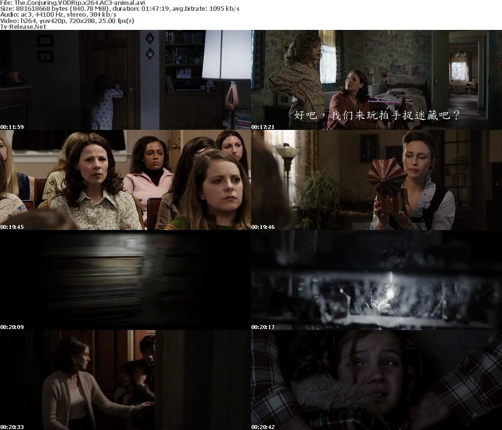 Download The Conjuring ( 2013 ) BluRay 720p + Subtitle Indonesia