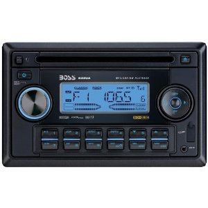 using ipod in car with Boss 822UA In-Dash Double-Din CD/MP3 Receiver