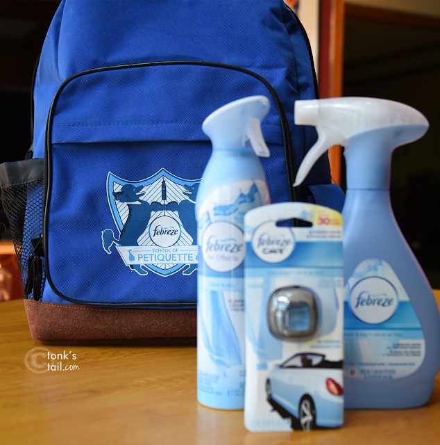 Look what arrived with the Febreeze - Mommy's vey own school backpack!