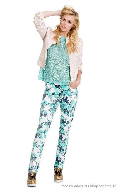 Portsaid primavera verano 2014 pantalones de verano.