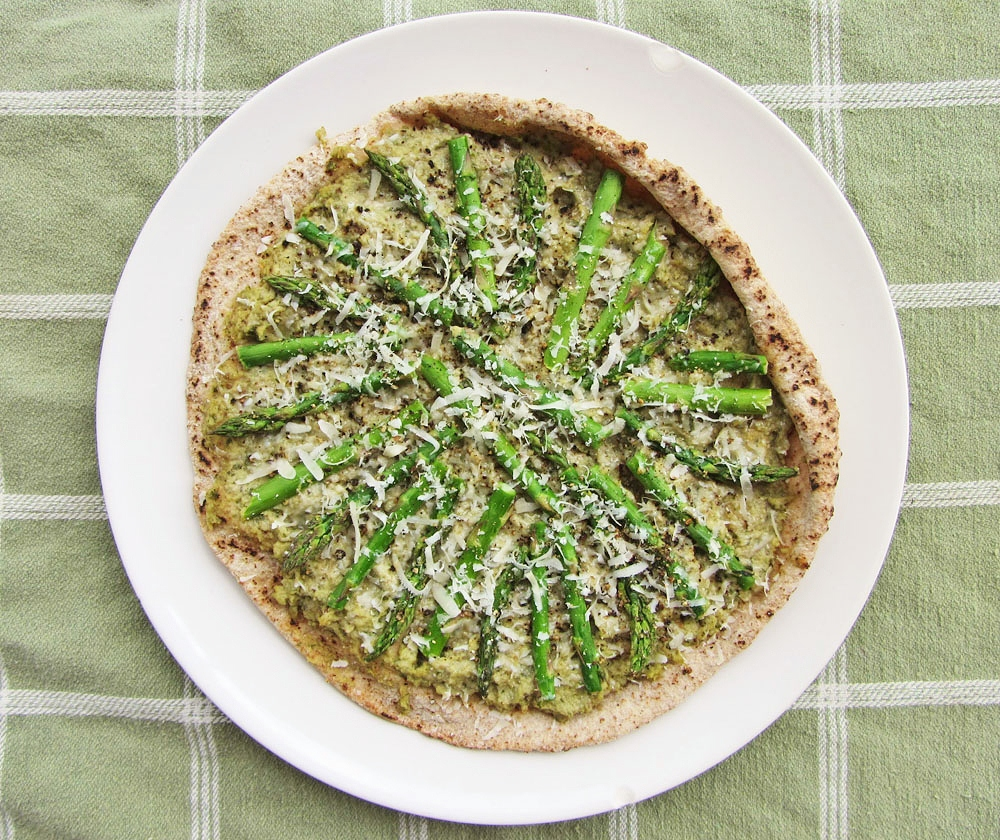 lemon artichoke pesto pizza