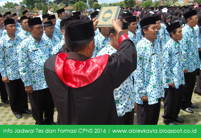 Jadwal Pendaftaran Online dan Formasi CPNS Tahun 2016 Terbaru