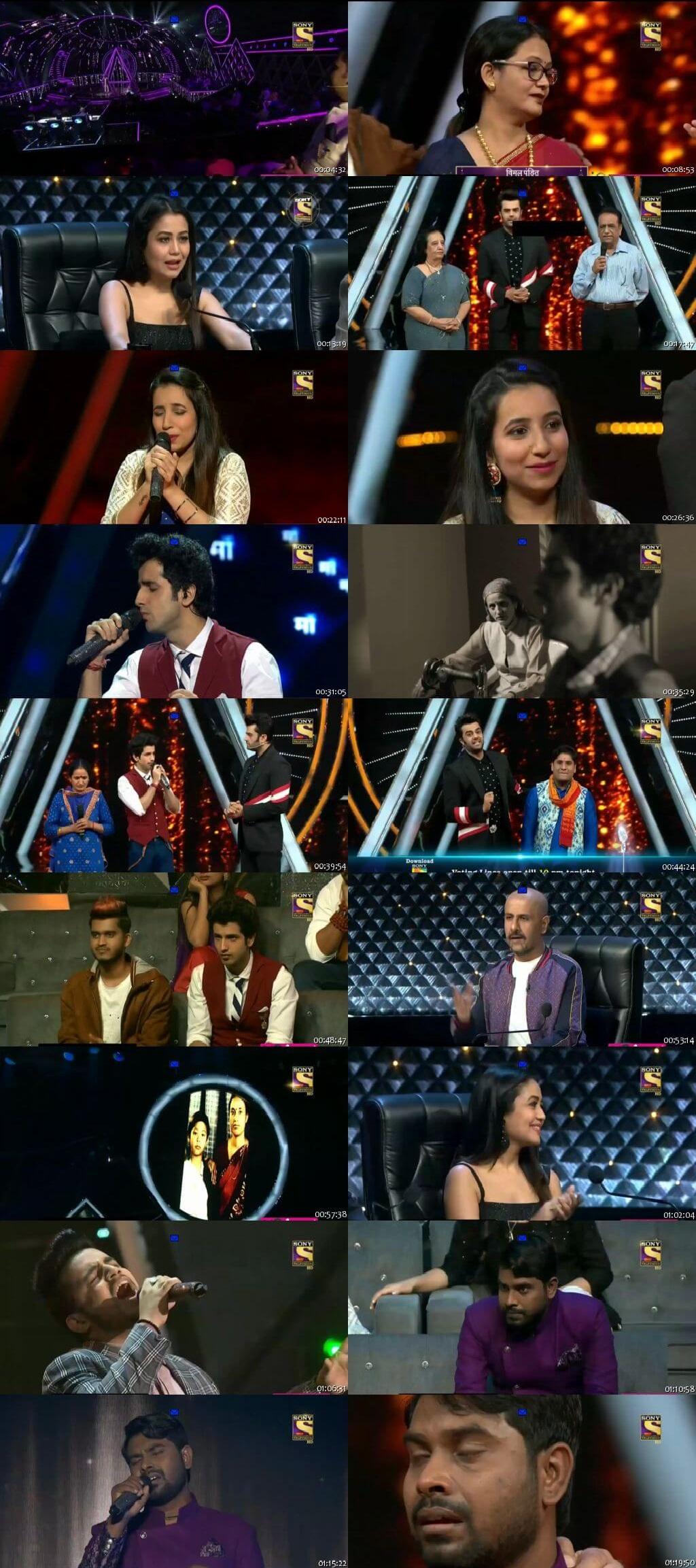 Screenshots Of Hindi Show Indian Idol 22nd September 2018 Episode 23 300MB 480P HD