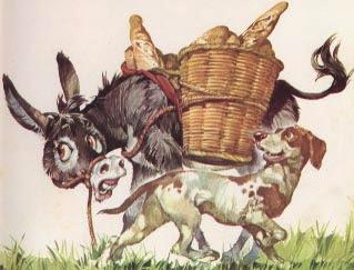 El Burro, el Perro y el Lobo con moraleja de Esopo