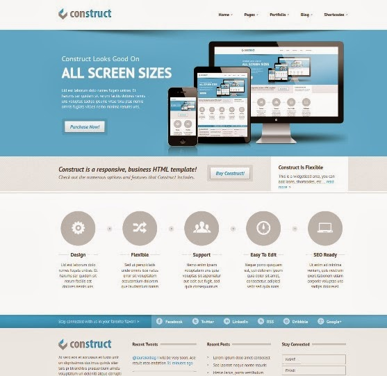 Construct - Responsive HTML5 Template