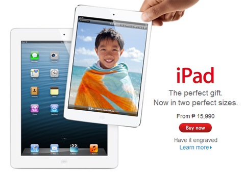 iPad Mini is now in Apple Philippines Online Store