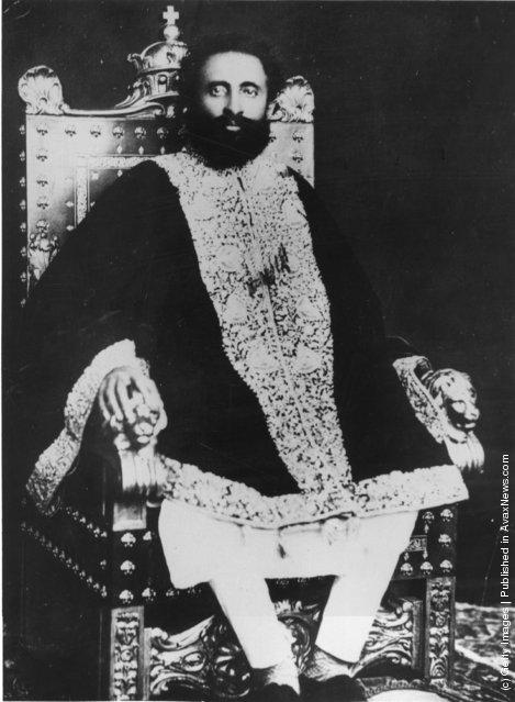 ... everyday: Old Portraits of Emperor Haile Selassie I of Ethiopia