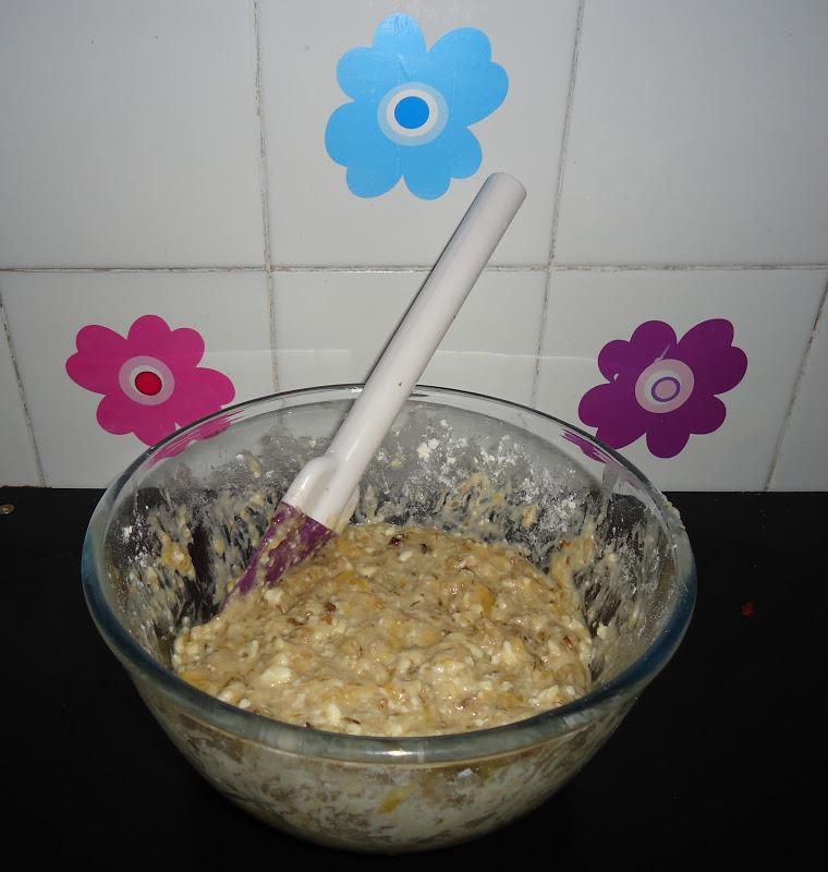 El cocinar es f cil galletas de pl tano y nueces for Cocinar 180 grados