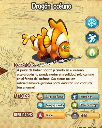 imagen de las caracteristicas del dragon oceano