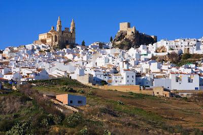 Vista de Olvera, una de las ciudades blancas en la provincia de Cadiz, Andalucía, España.