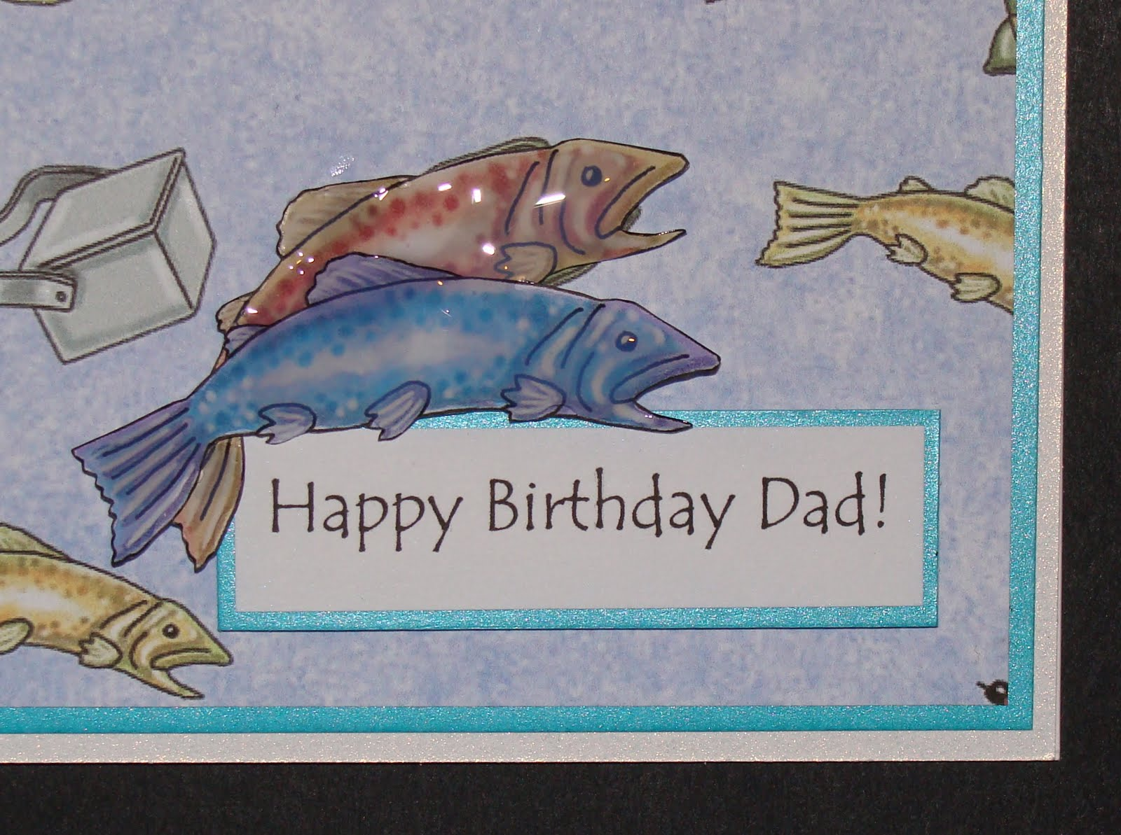 delphinoid 39 s cards and craft fishing birthday card