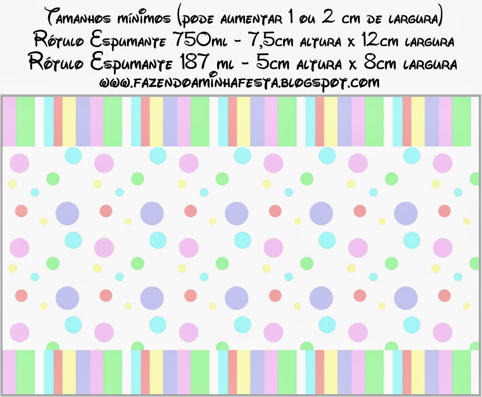 Pastel Colored Spots Free Printable Candy Bar Labels