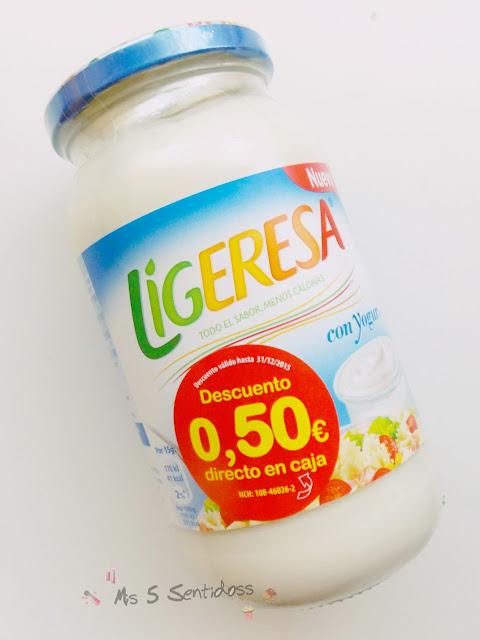 Ligeresa con yogur