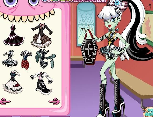 Juegos De Las Monster High Para Vestir Maquillar Y Peinar - Juego para vestir maquillar y peinar a Draculaura