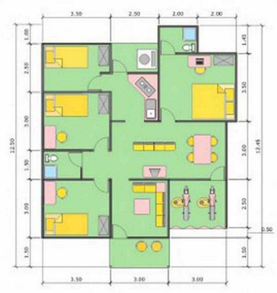 contoh denah tanah ukuran 10x12 idaman
