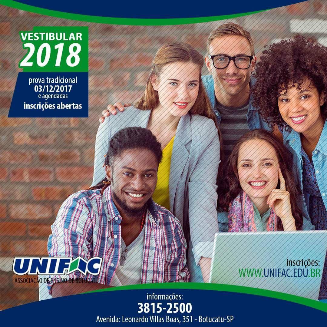Vestibular Unifac 2018