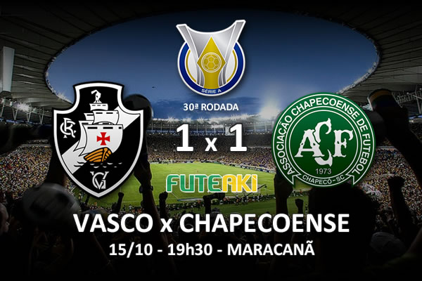 Veja o resumo da partida com os gols e os melhores momentos de Vasco 1x1 Chapecoense pela 30ª rodada do Brasileirão 2015.