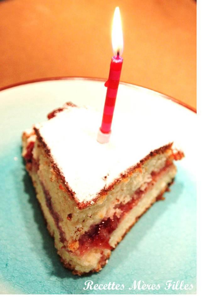 Recettes m res filles la recette g teau d anniversaire g teau au yaourt et confiture de fraises - Gateau anniversaire recette ...