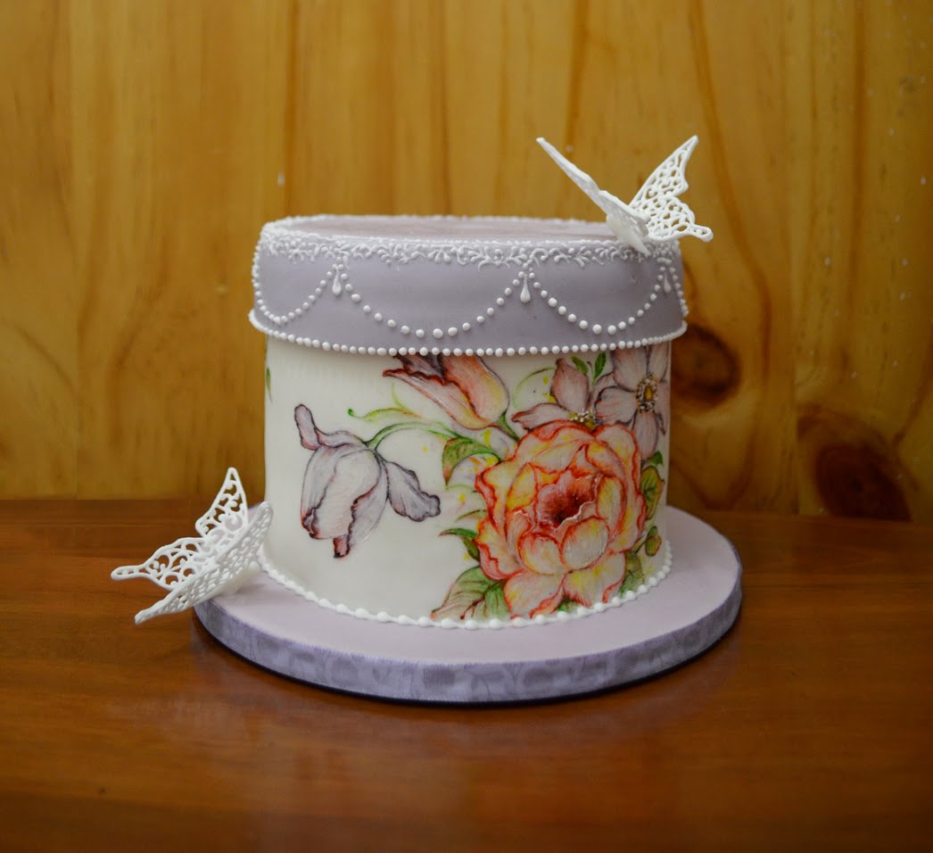 Cake Art Netherlands : vinism sugar art: painted box