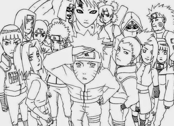 Mewarnai Gambar Naruto Lucu