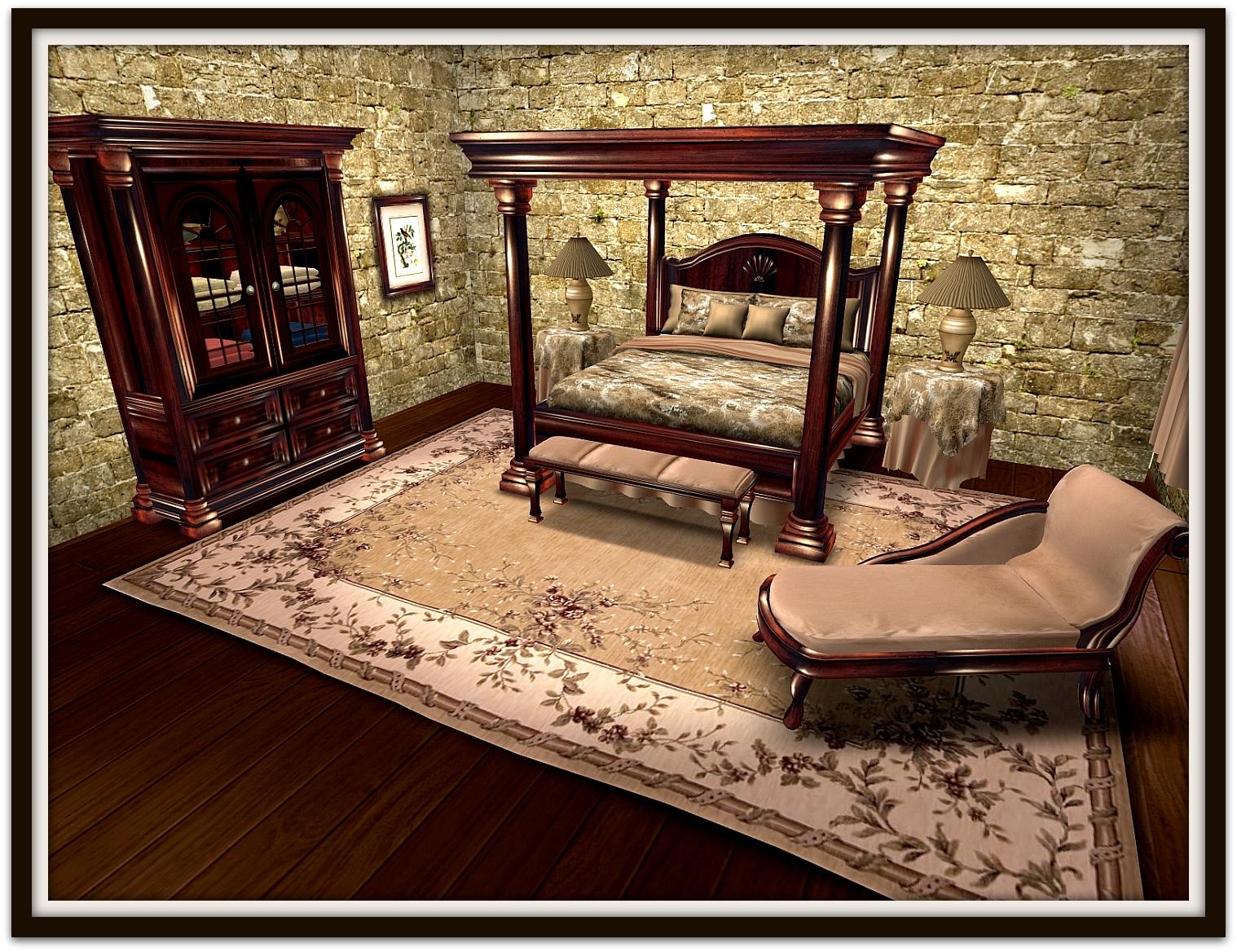 la galleria new walnut empire bedroom set
