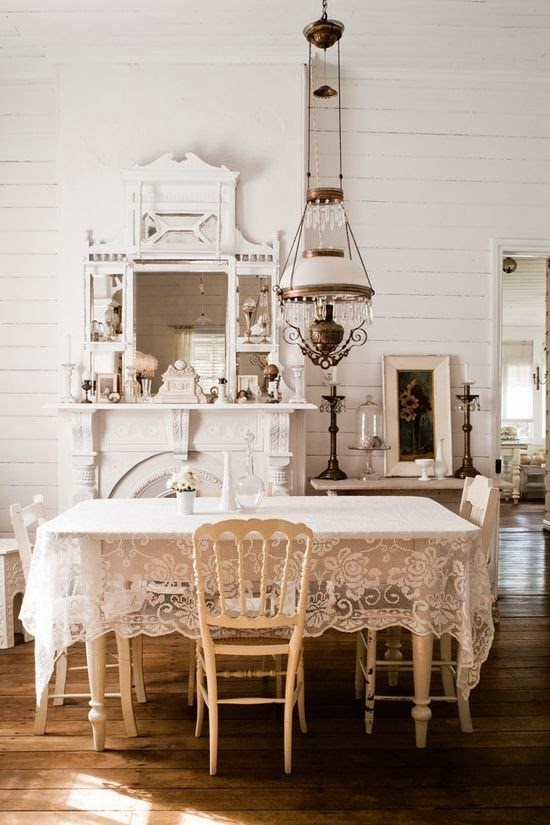 vintage cream dining room