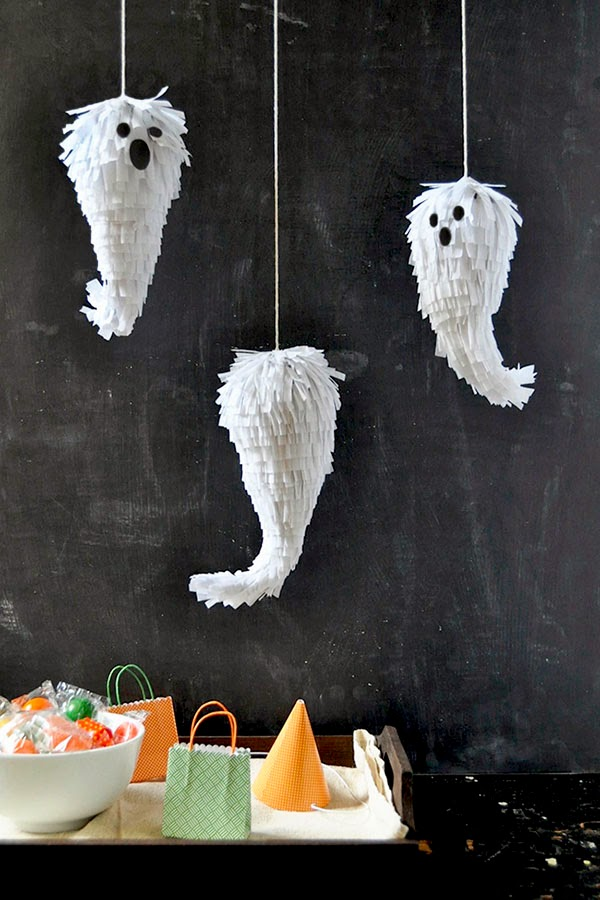 mini ghost pinata, mini ghoul pinata, cute pinatas, pinata ideas, cute children's party ideas, kids party ideas, pinata ideas