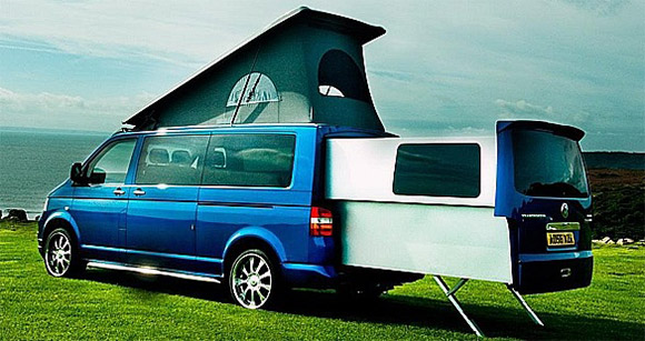 t a witty volkswagen transporter doubleback luxury camper van. Black Bedroom Furniture Sets. Home Design Ideas